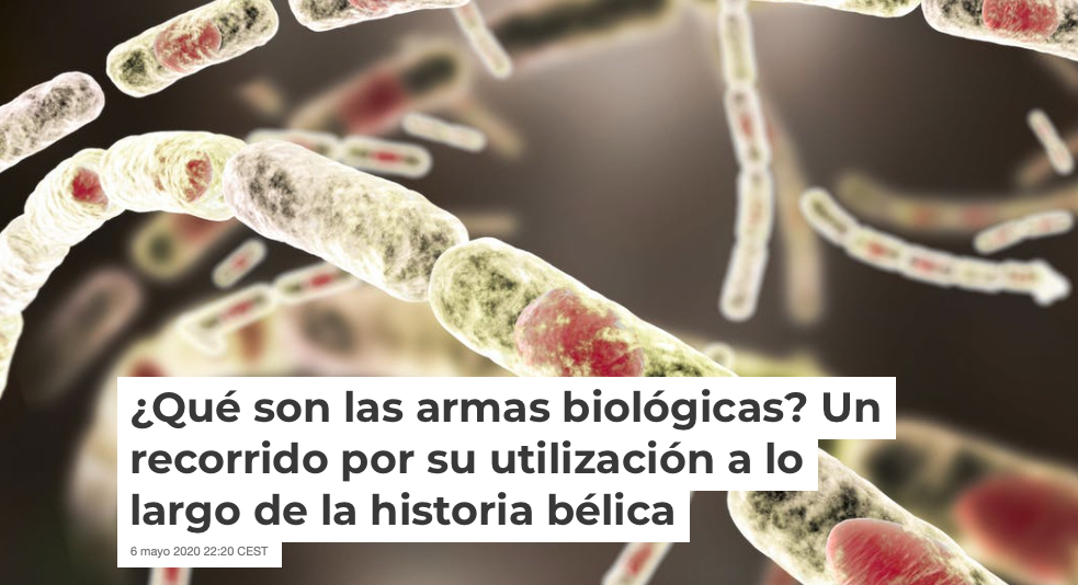 New outreach article about biological warfare from MINE Lab members, published in 'The Conversation' (article in Spanish)